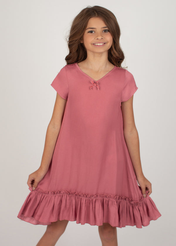 *NEW* Liana Nightgown in Dark Blush