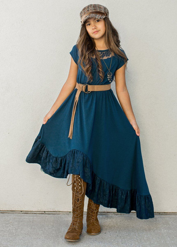 Liza Dress in Navy