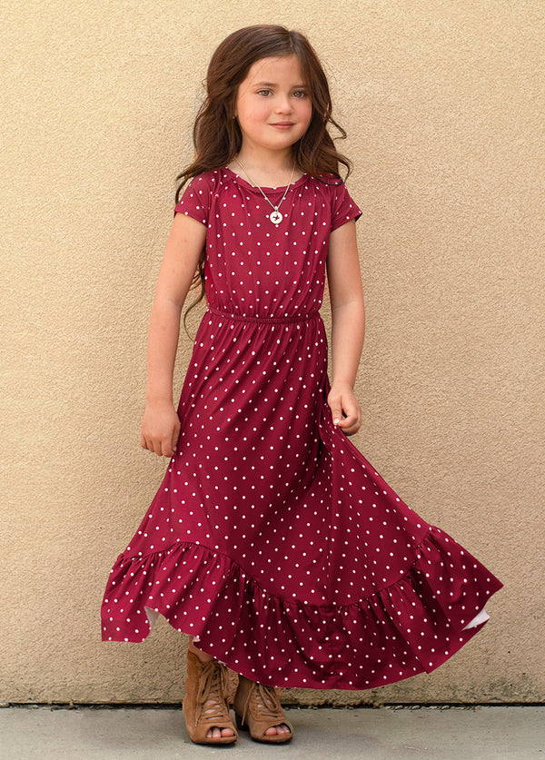 *NEW* Liza Dress in Rust Dot