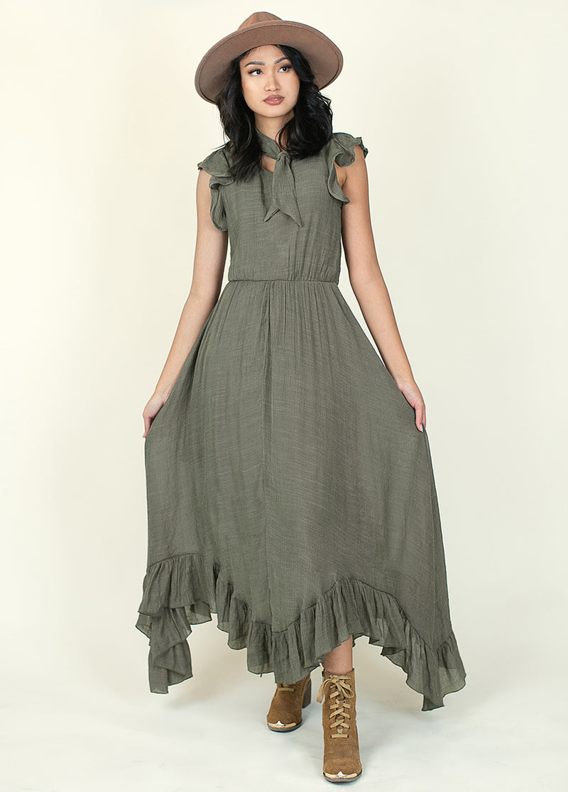 *NEW* Lottie Dress in Army Green