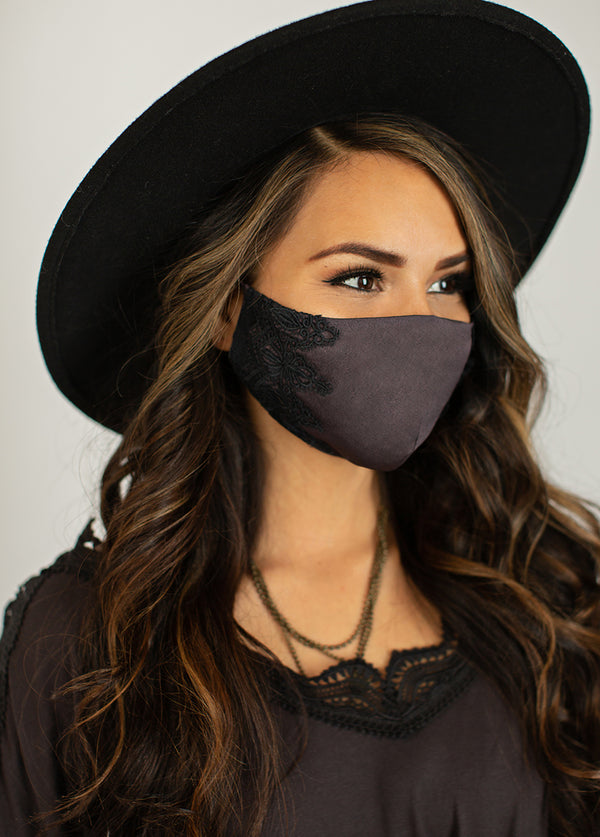 Women's Arminda Mask Set in Washed Black & Warm Taupe