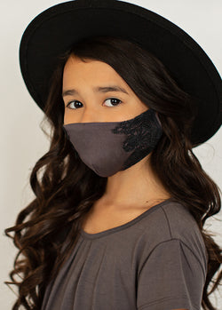*NEW* Arminda Mask Set in Washed Black & Warm Taupe