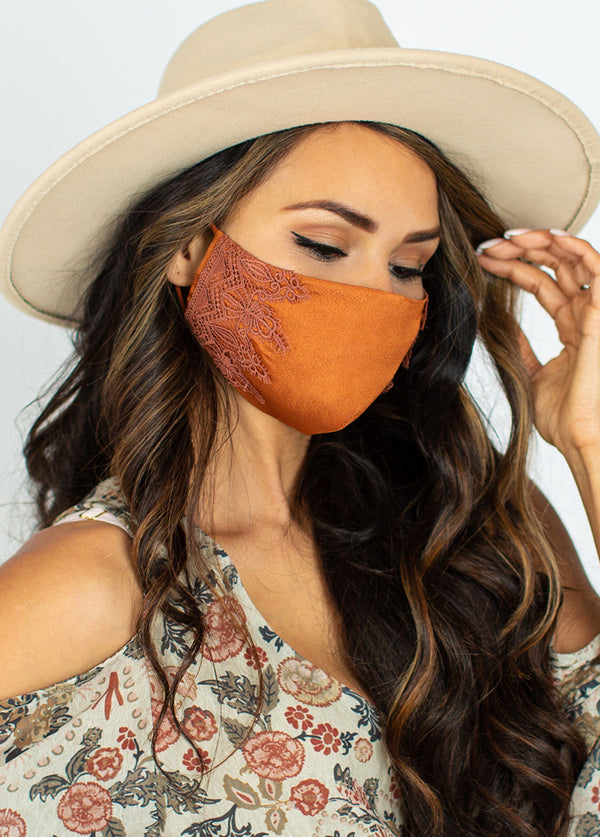*NEW* Women's Arminda Mask Set in Rust & Canyon Rose