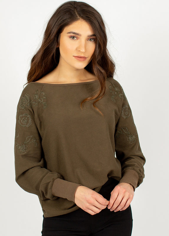 Lylah Top in Olive
