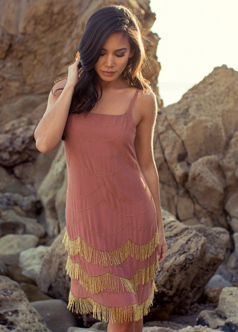 *NEW* Madalyn Dress in Clay and Gold