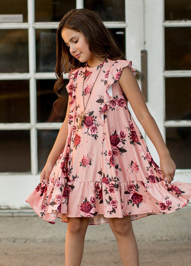 Makayla Dress in Pink Floral