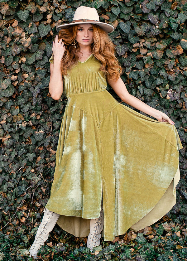 Makaylah Dress in Vintage Moss