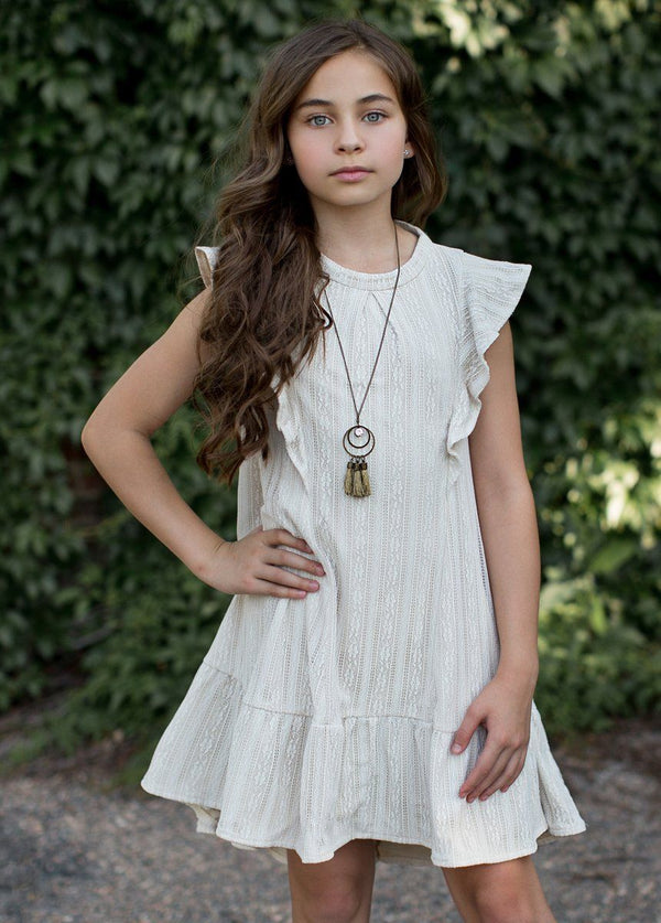 *NEW* Makayla Dress in Cream Lace
