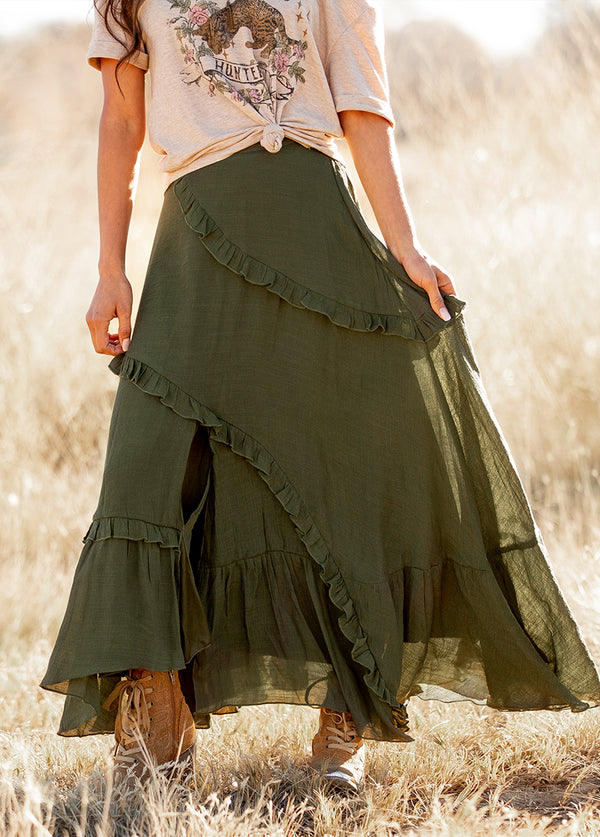 Makynna Skirt in Olive