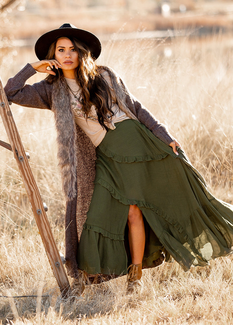 *NEW* Makynna Skirt in Olive