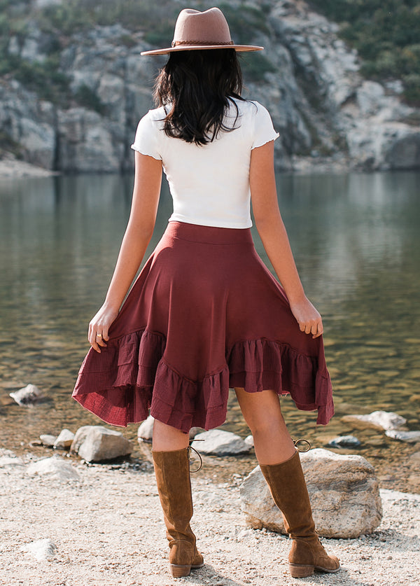 *NEW* Amandla Skirt in Brick