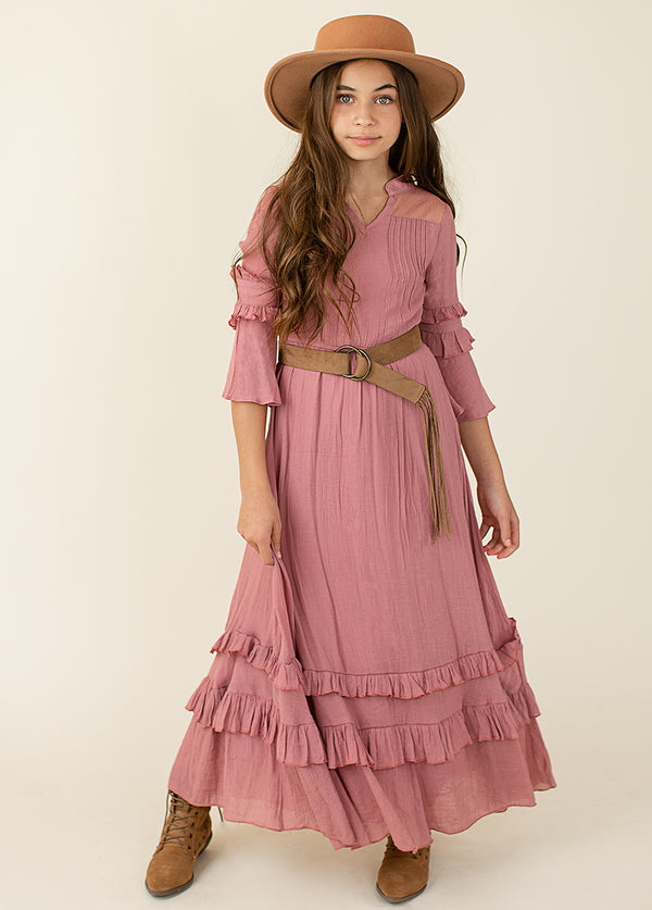 Mariana Dress in Dusty Rose