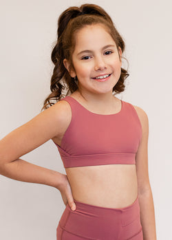*NEW* Marley Sports Bra in Adobe Rose