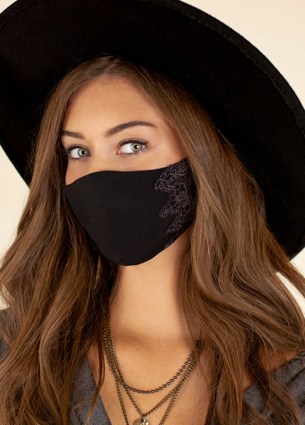 Women's Arminda Mask Set in Black & Charcoal