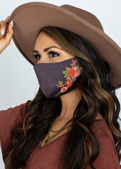 *NEW* Meadow Floral Mask in Warm Charcoal