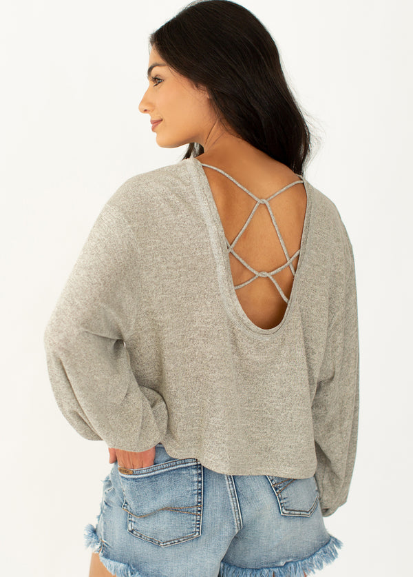 *NEW* Harper Top in Heather Oat