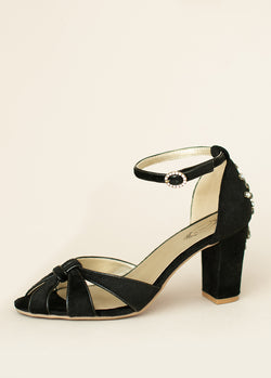 *NEW* Mildred Heel in Black Velvet