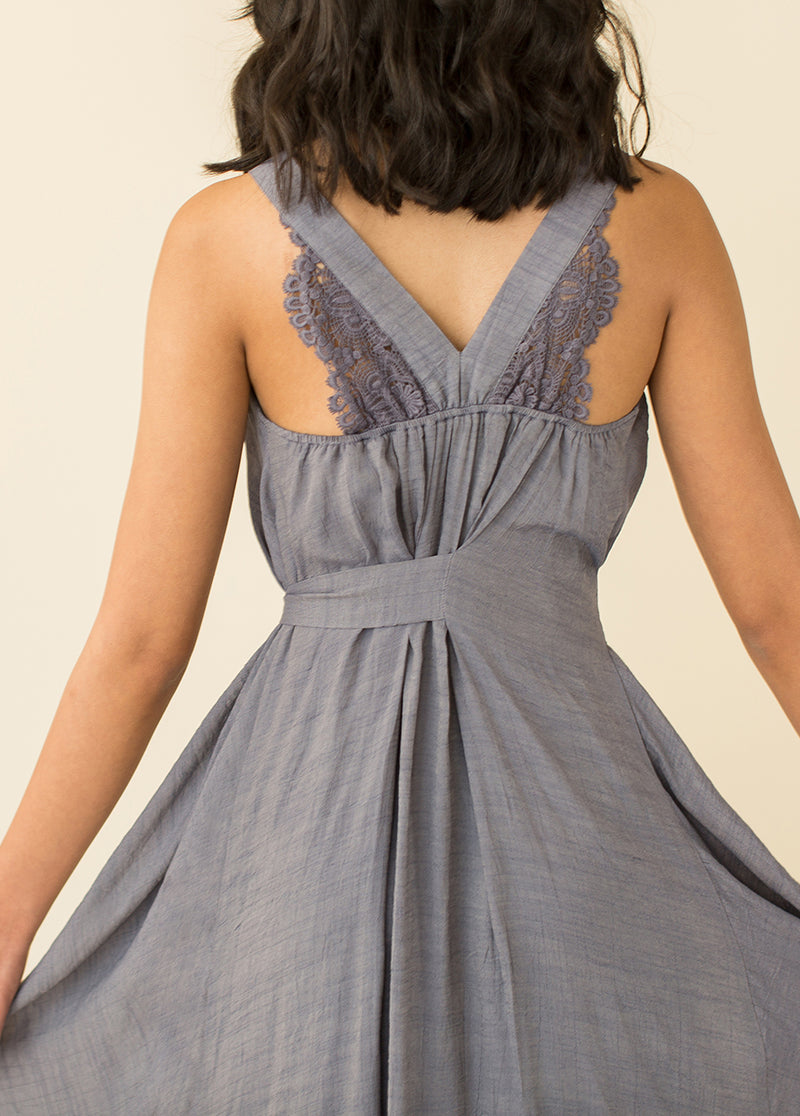 *NEW* Milena Dress in Chambray