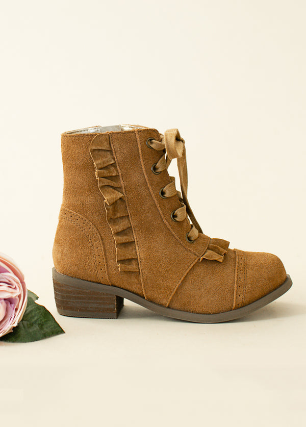 *NEW* Moen Ruffle Bootie in Nutmeg