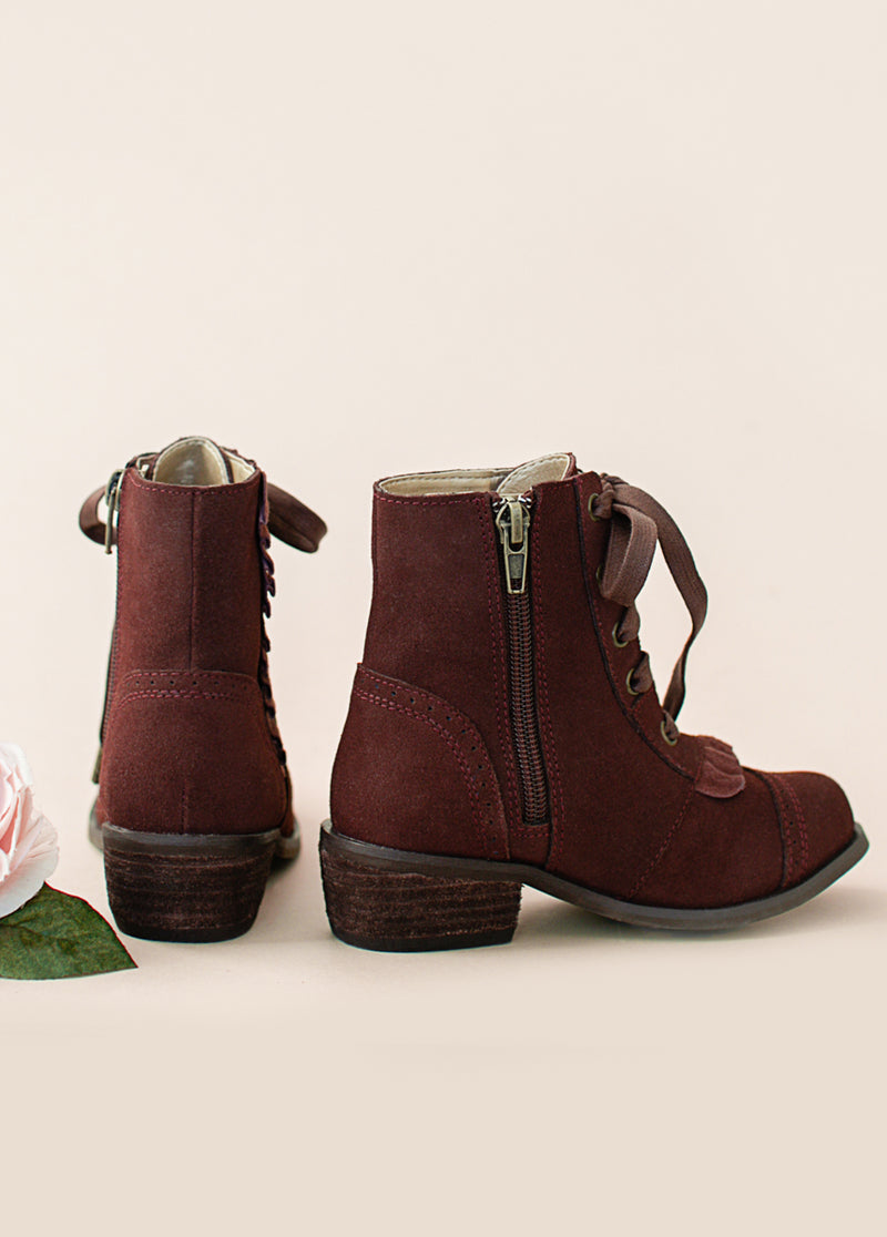 *NEW* Moen Ruffle Bootie in Burgundy