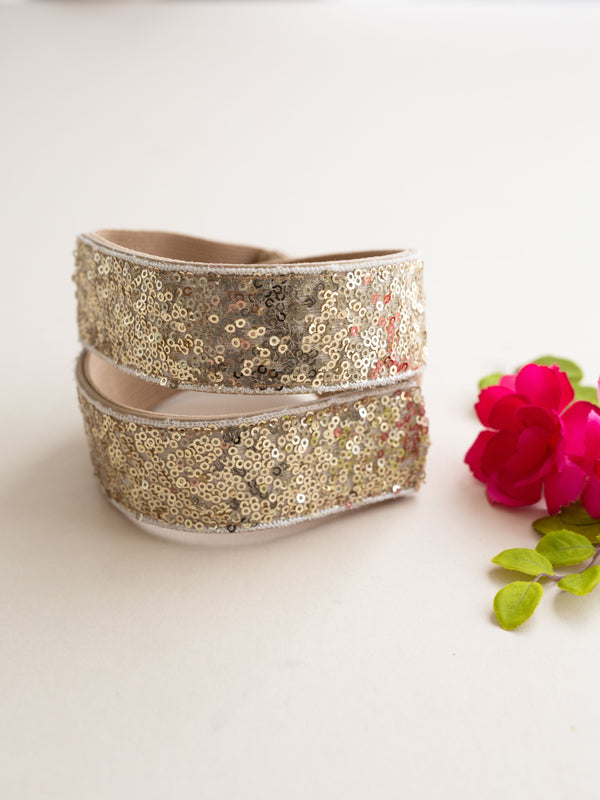 Molly Sequin Belt in Gold