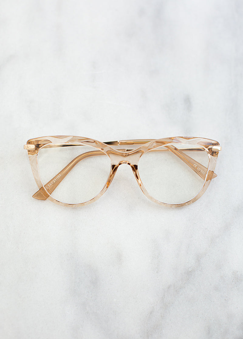 *SOLD OUT* Mona Blue Light Glasses in Gold