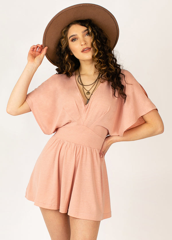 *NEW* Cataleya Romper in Cameo Rose