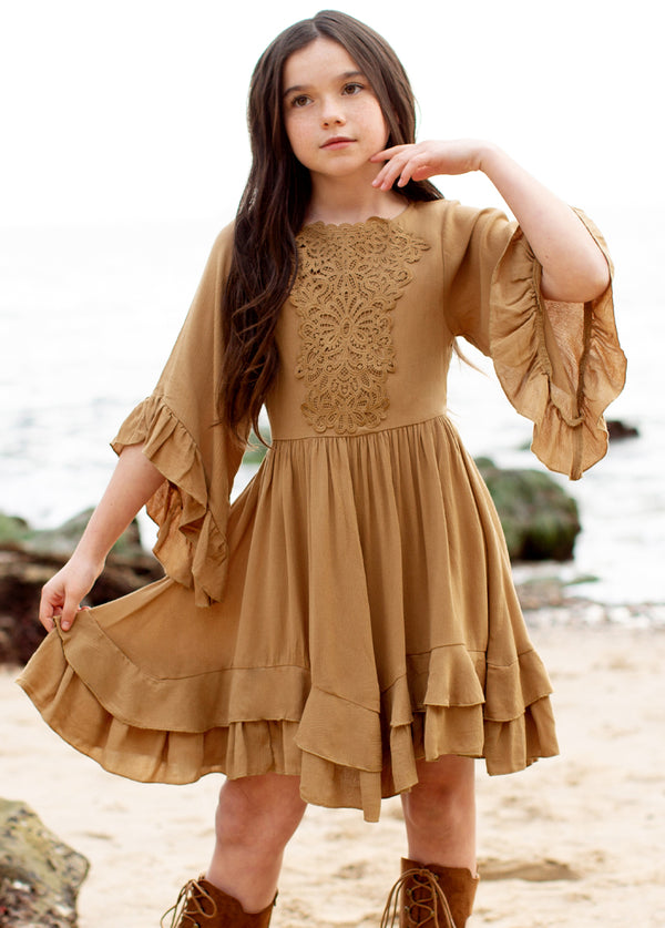 *NEW* Calyssa Dress in Ochre
