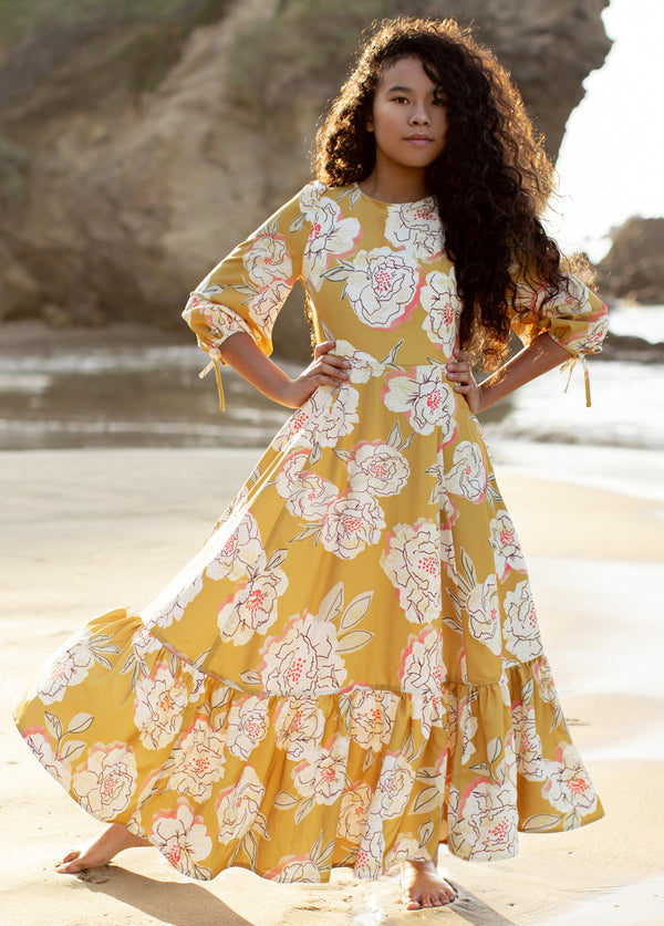 *NEW* Adelina Dress in Saffron Floral