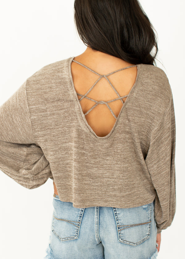 *NEW* Harper Top in Heather Taupe