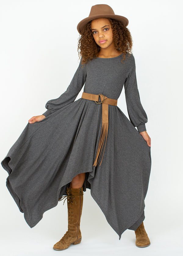 *NEW* Nichelle Dress in Charcoal