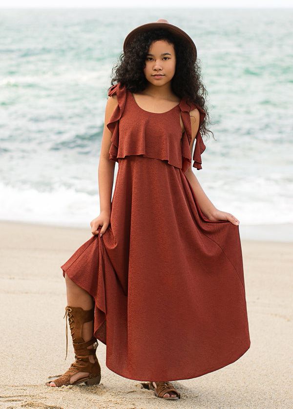 *NEW* Noemi Maxi Dress in Adobe