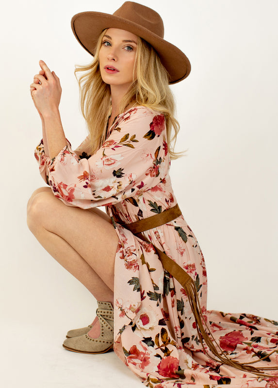 *NEW* Rowan Dress in Dusty Pink Spring Floral