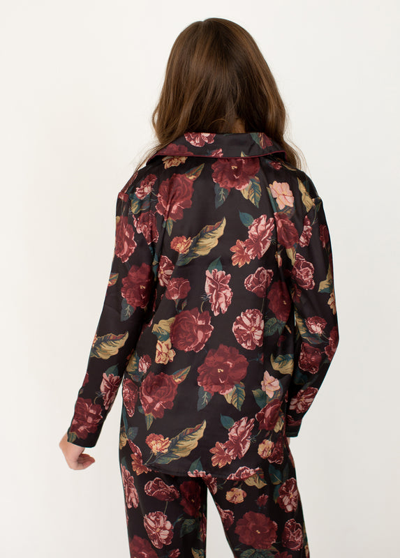 Oaklyn Pajamas in Dark Floral