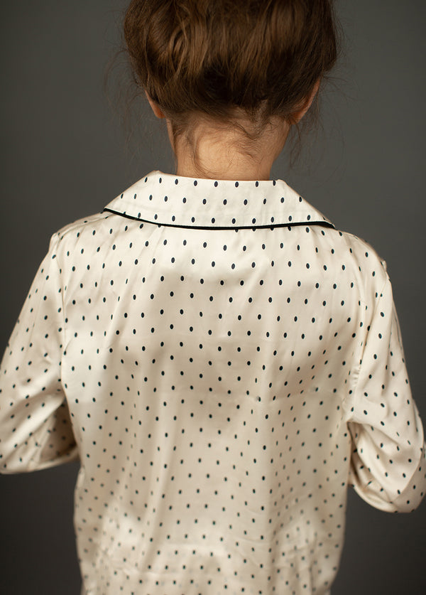 Oaklyn Pajamas in Ivory Dot