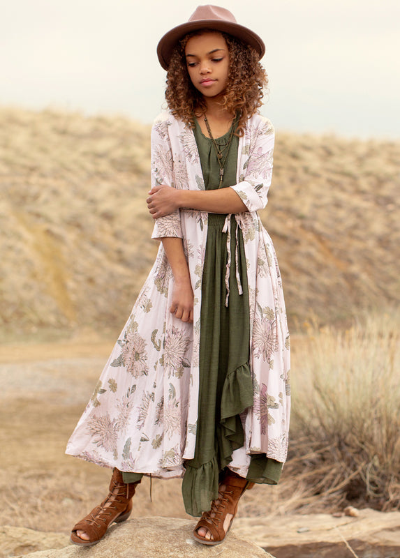*NEW* Katherine Duster in Mum Floral