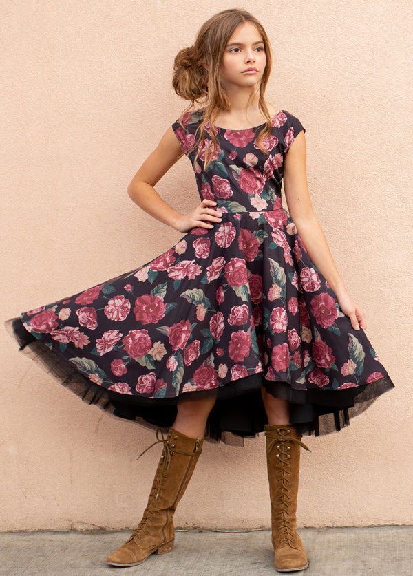 *NEW* Malaya Dress in Dark Floral