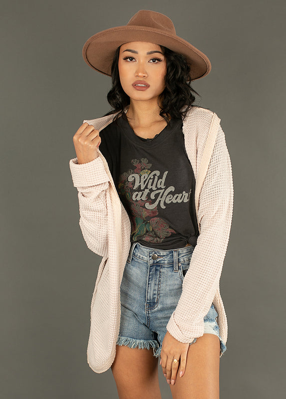 *NEW* Women's Wild at Heart Top in Charcoal