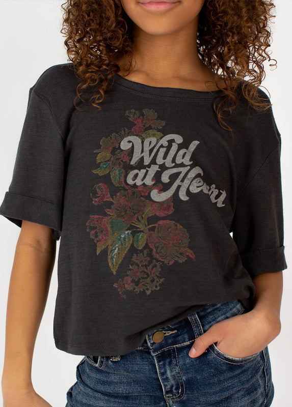 *NEW* Wild At Heart Top in Charcoal
