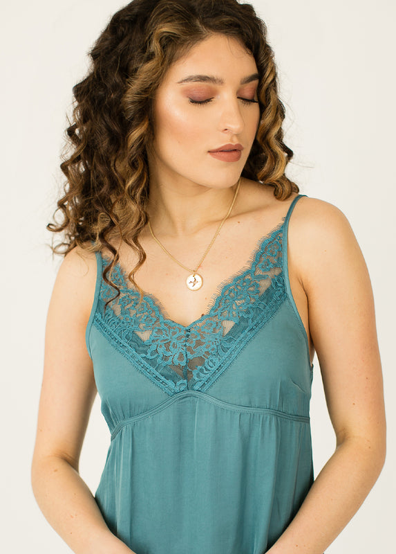 *NEW* Aileen Nightgown in Teal