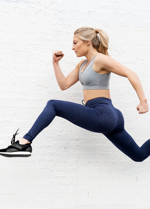 Parker Legging in Heathered Navy