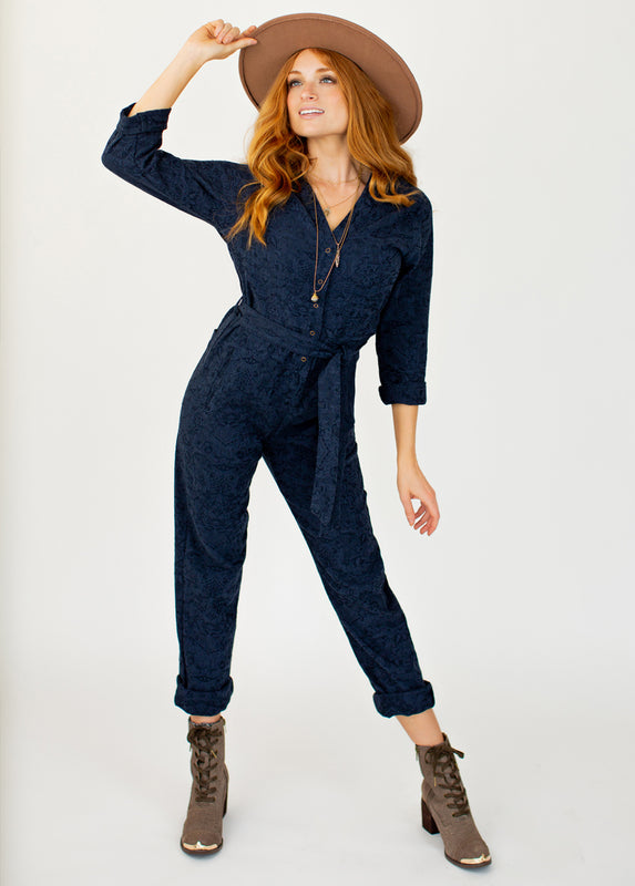 Persephone Jumpsuit in Navy