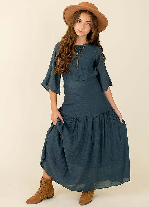 Phoebe Maxi Dress in Deep Teal