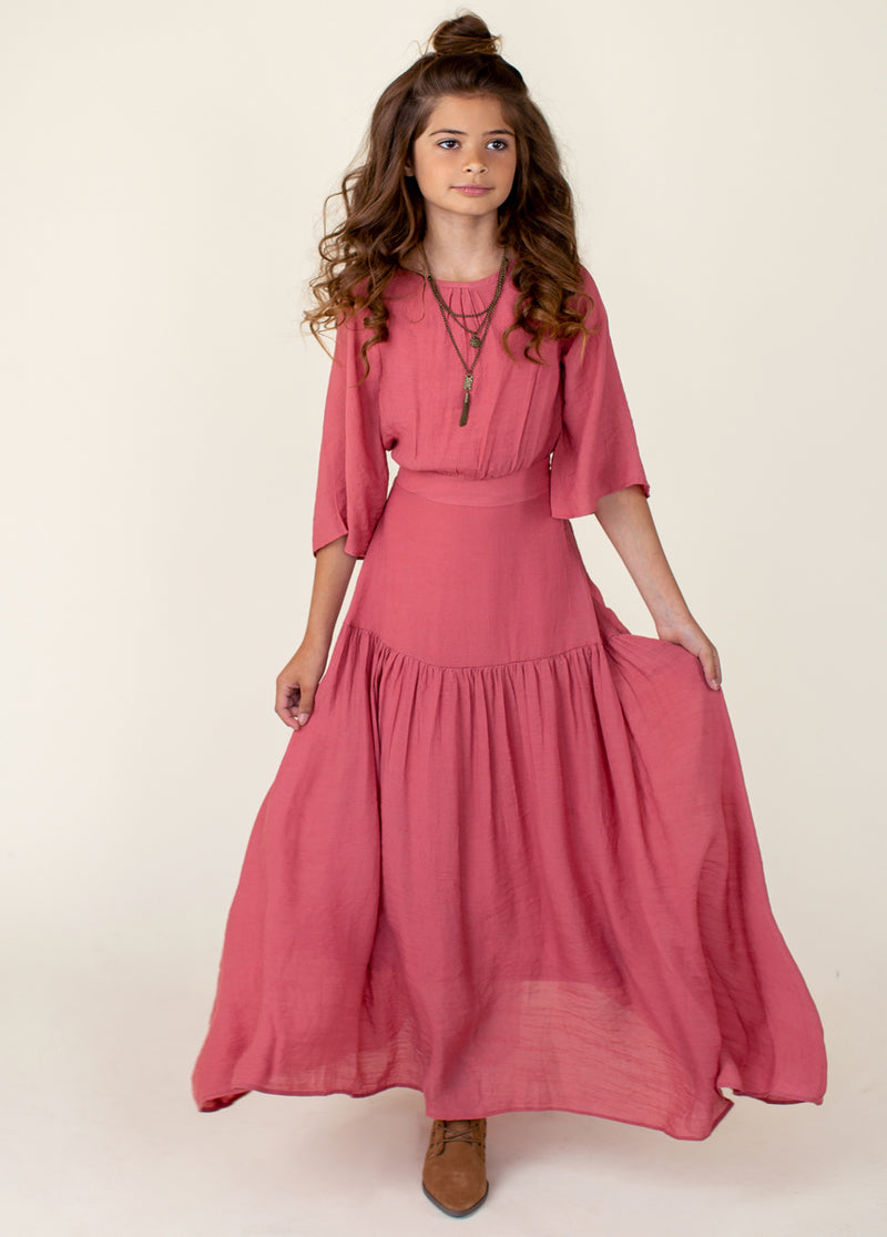 *NEW* Phoebe Maxi Dress in Faded Rose
