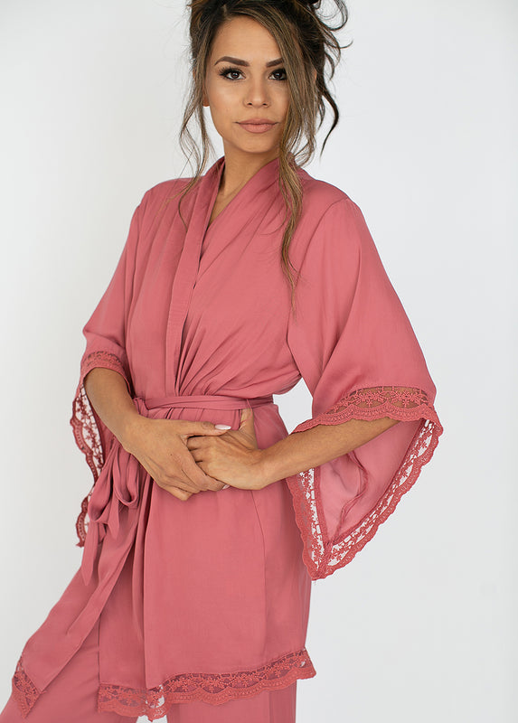Noa Robe in Dark Blush
