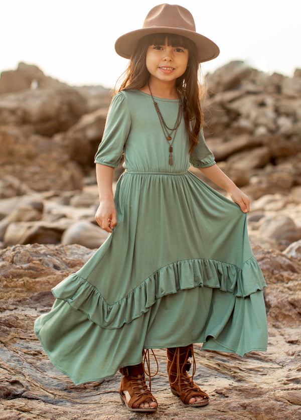 *NEW* Harley Midi Dress in Island Sage