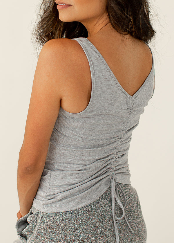 Pria Top in Heathered Gray