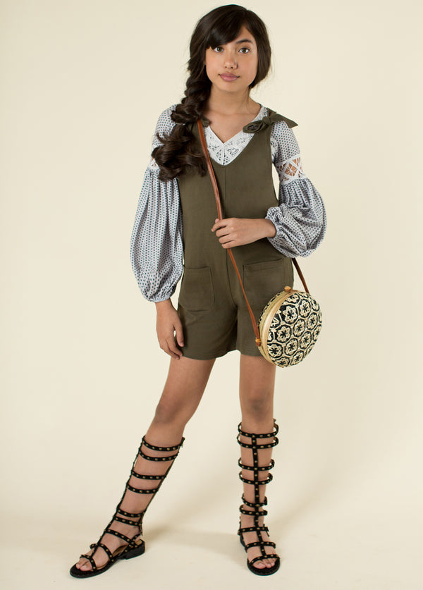 *NEW* Quineta Short Overalls in Olive