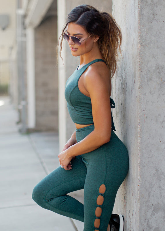 Alaia Legging in Balsam Heather