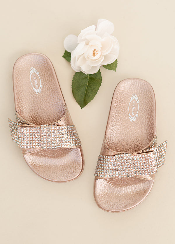 Rizza Slide in Rose Gold